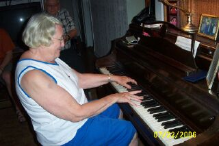 Jean on the piano.